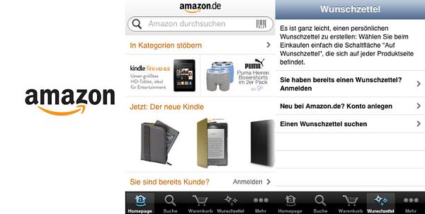 Die Amazon Mobil App