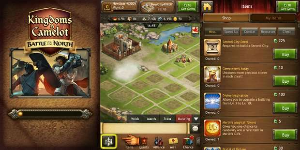 Die Kingdoms of Camelot: Battle for the North App – Tipps und Tricks