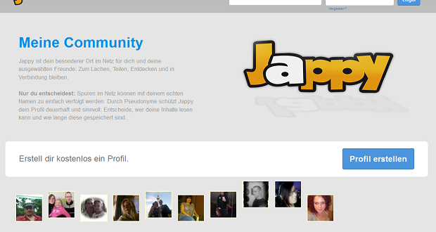 Jappy.de – Soziale Kontakte im Netz