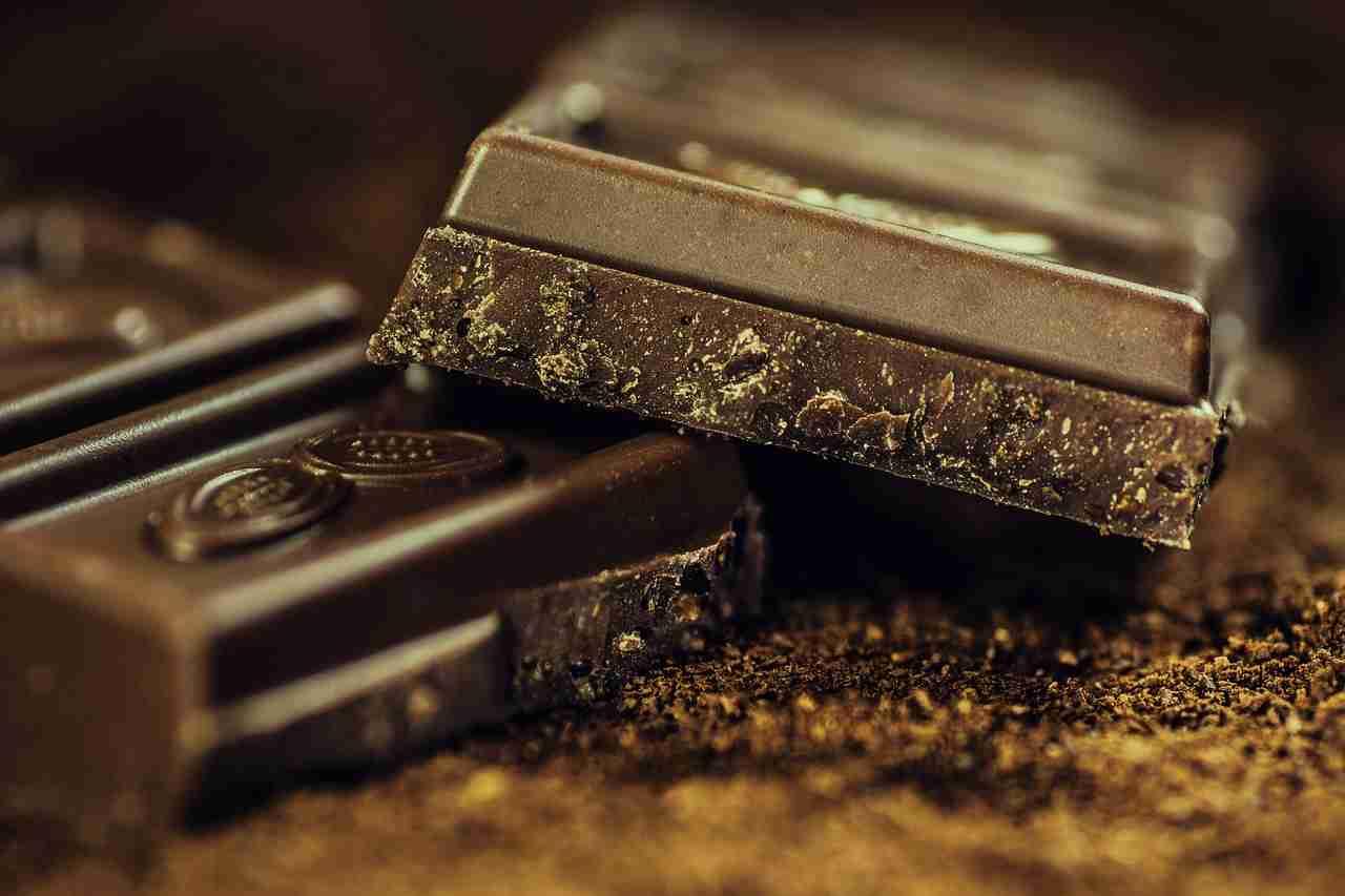 Schokolade wird weiß