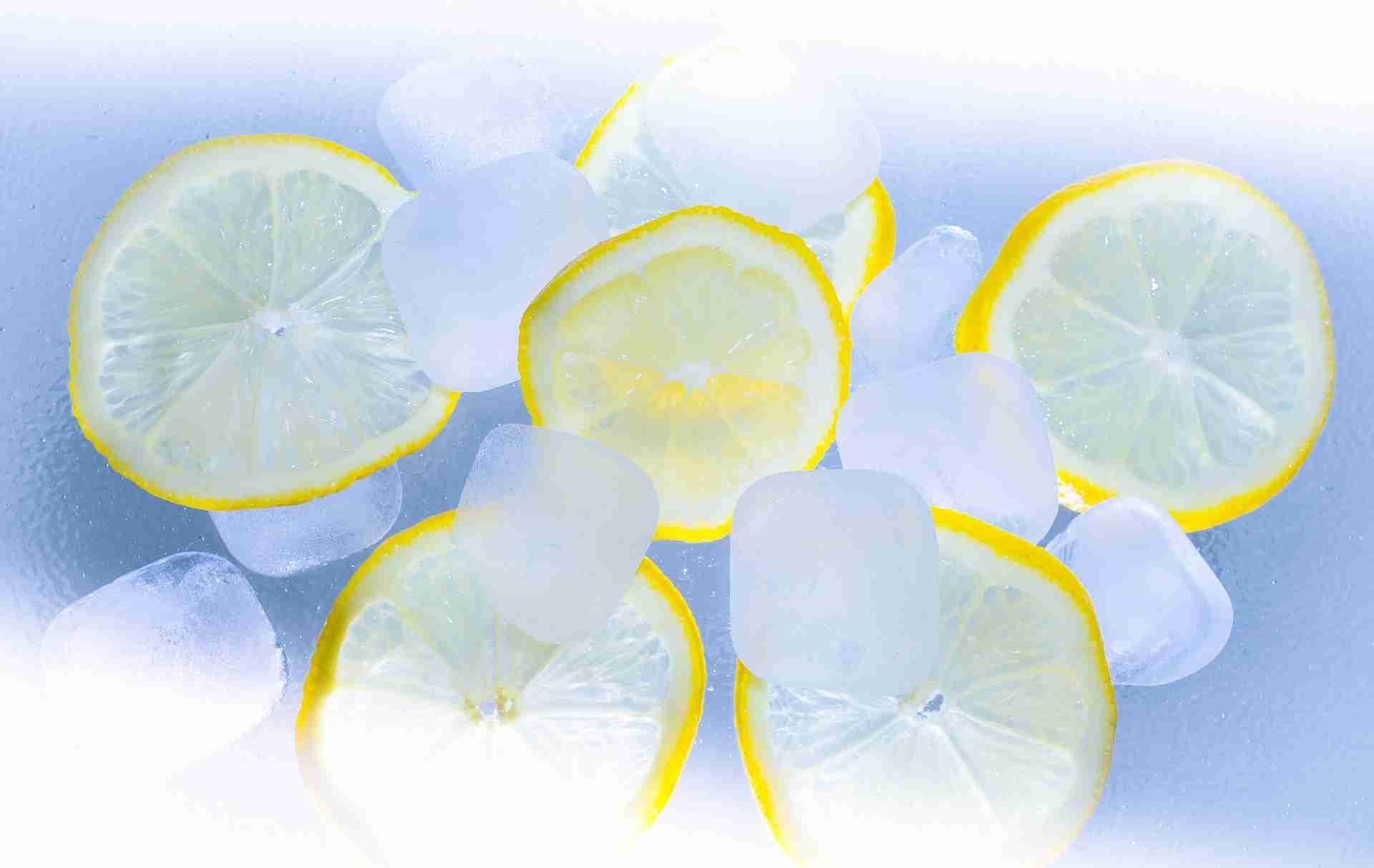 Eiswürfel weißer Kern